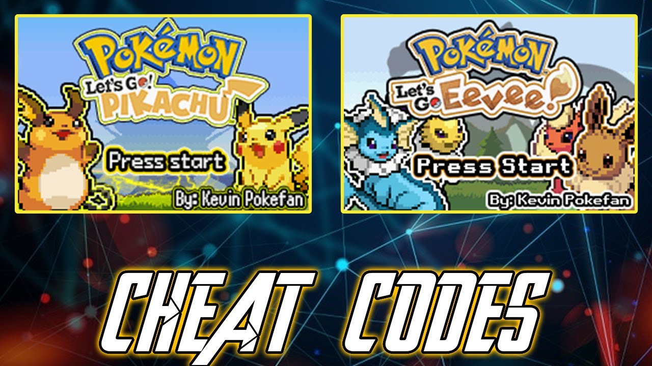 Pokémon Let S Go Pikachu Eevee Gba Working Cheat Codes Download All In One Part 01 Youtube