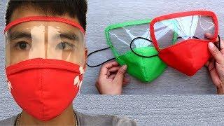 Mundschutz selber nähen deutsch   Gesichtsmaske selber machen   einfache Behelfsmaske nähen