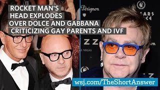 Elton John Slams Dolce and Gabbana's Views on Gay Parenting