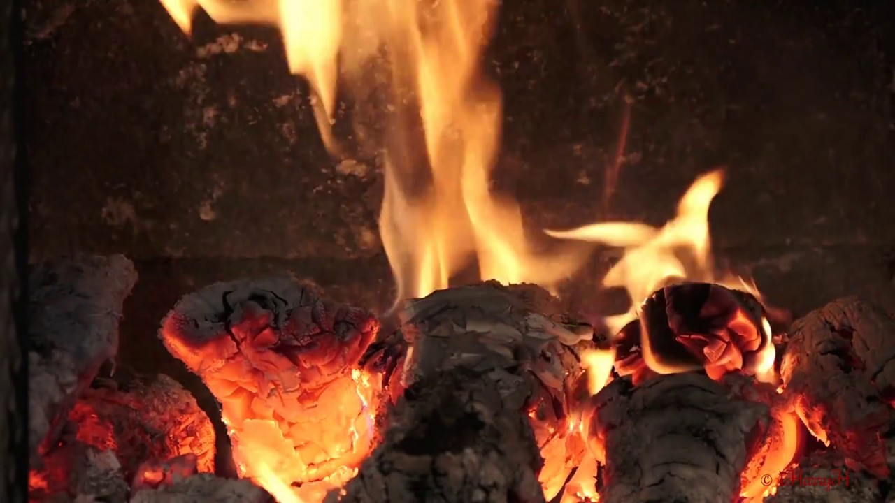 ambiance real time fire in fireplace hd 1080p video no loop