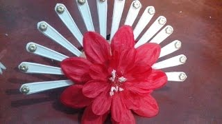 Spoon handle wall hanging flower.