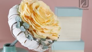 Bridal bouquet one rose How to make