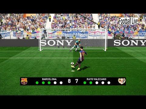 PES 2019 | Barcelona vs Rayo Vallecano | Penalty Shootout | Gameplay PC