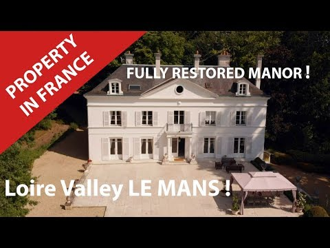 France.Castle. Loire Valley Property For Sale Near Le Mans And Its Grand Prix