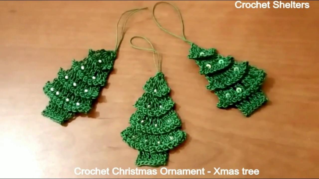 How To Make Quick Easy Crochet Christmas Ornament Xmas Tree