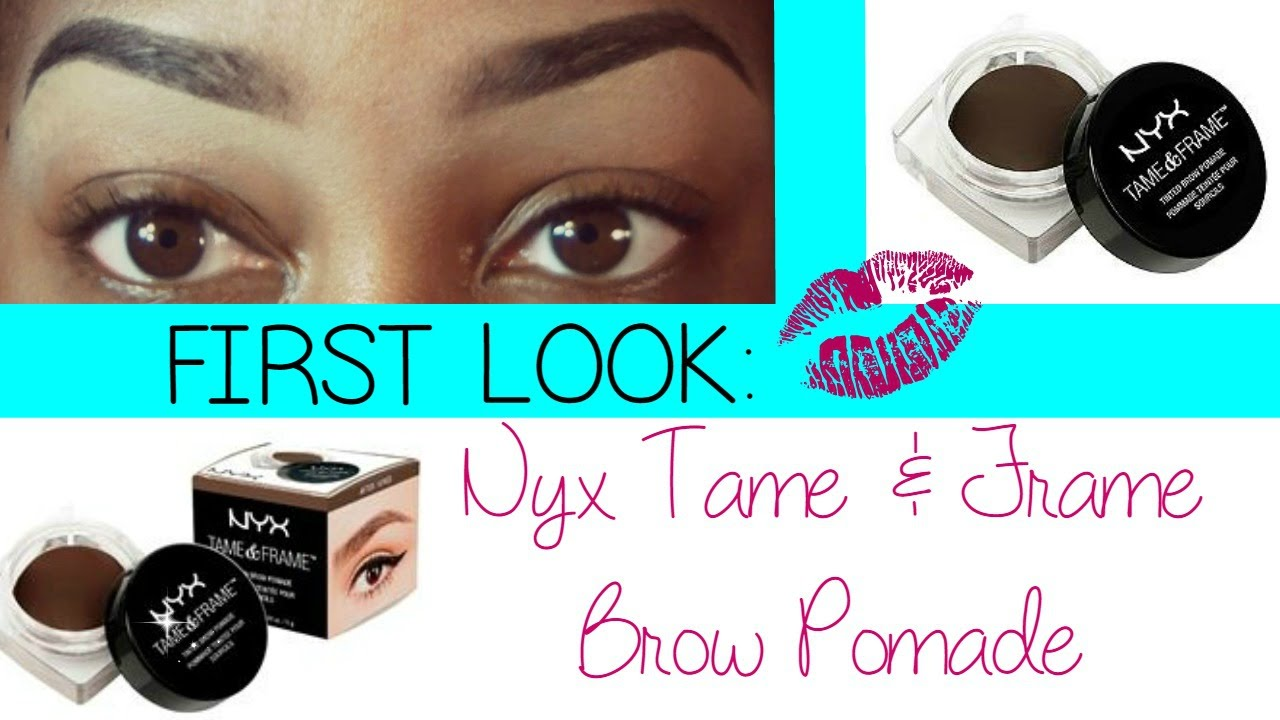 Nyx Brow Pomade First Look Brow Tutorial Kellster