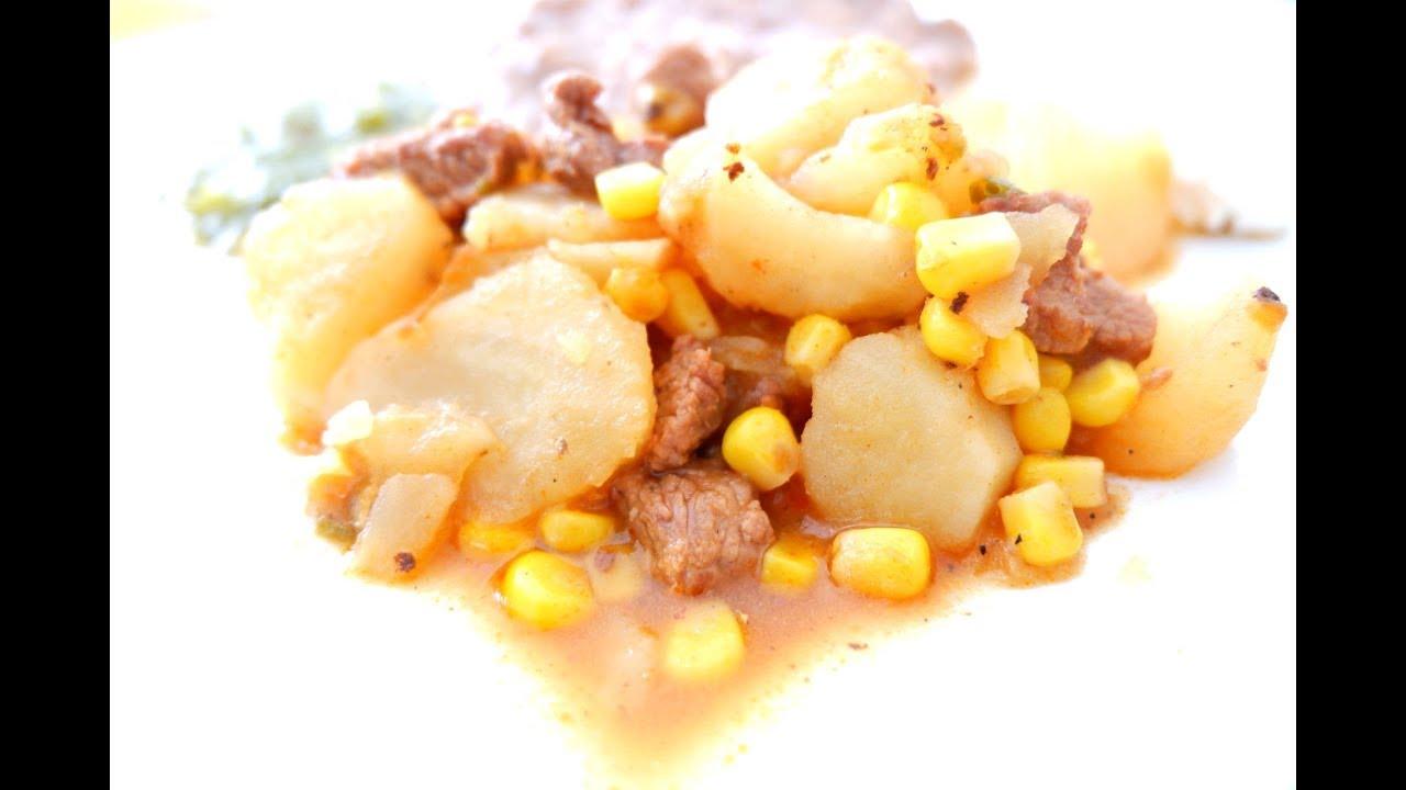 Guiso De Carne Con Papas Bomb Mexican Style Beef Stew Youtube