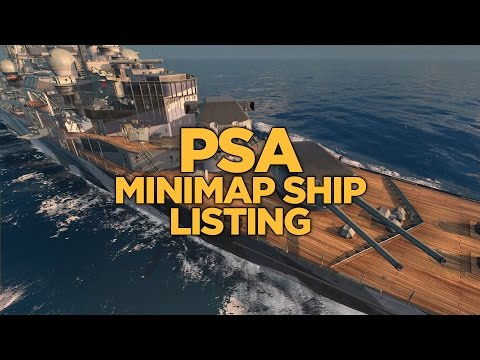 World of Warships - PSA Minimap Ship Listing