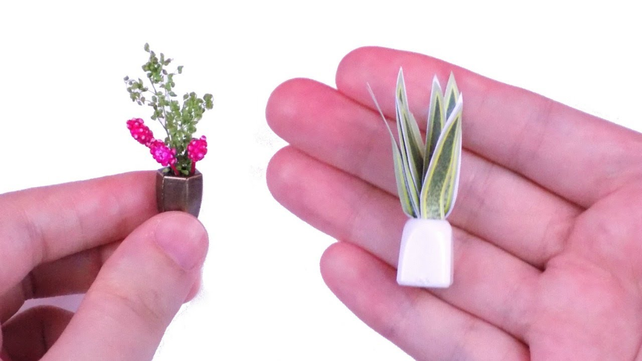 Diy Miniature Dollhouse Plants How To Make Things