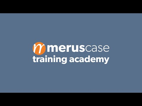MerusCase Training Academy | Documents Overview