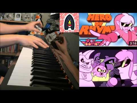 Starbomb & Egorapter - 2nd BEST Zelda Rap EVER - The Hero Of Rhyme (Amosdoll Piano Cover)