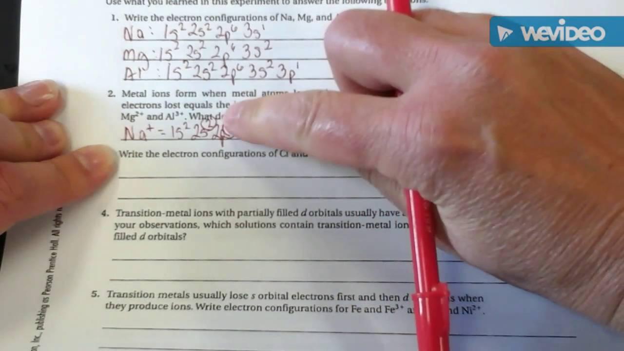 Electron Configuration Lab - YouTube