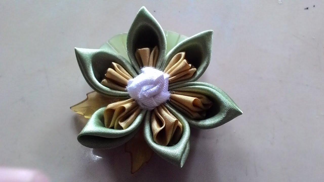 diy craft ,Kanzashi flower - cara membuat bunga dari kain ... - photo#44