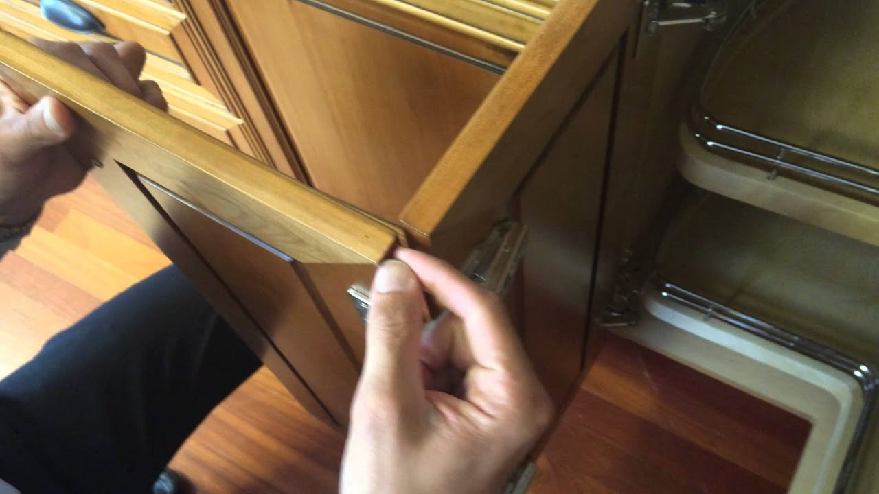 how to adjust bi fold doors on a base 90 cabinet built by Barker ...