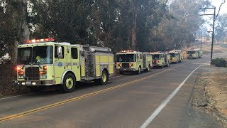 Firefighters battle Bonsall Highway Fire in Fallbrook,CA