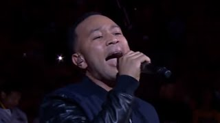 NBA Finals | John Legend Sings Star Spangled Banner  | THE SKINNY