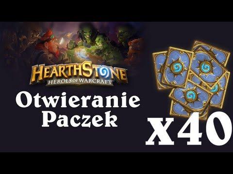 Hearthstone: Rozpakowanie 40-stu Paczek [PL]