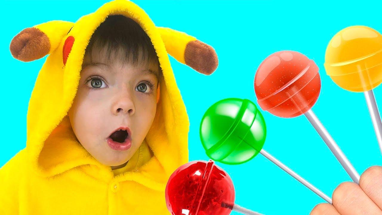 아드리아나와 알리 손가락 가족 노래 유아를위한 교육 비디오 Daddy Finger Nursery Rhymes  Learn Colors With Eyeballs