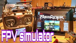 FPV racing simulator setup. AT9+FreeRider app / Synchronization Betaflight