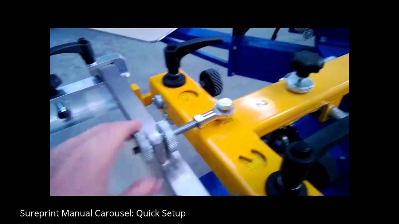 Sureprint Manual Carousel: Quick Setup