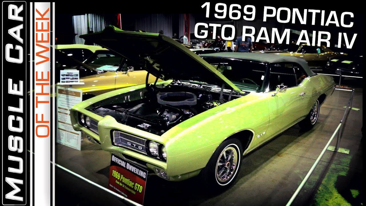 1969 Pontiac GTO Ram Air IV 4-Speed Convertible: Muscle Car