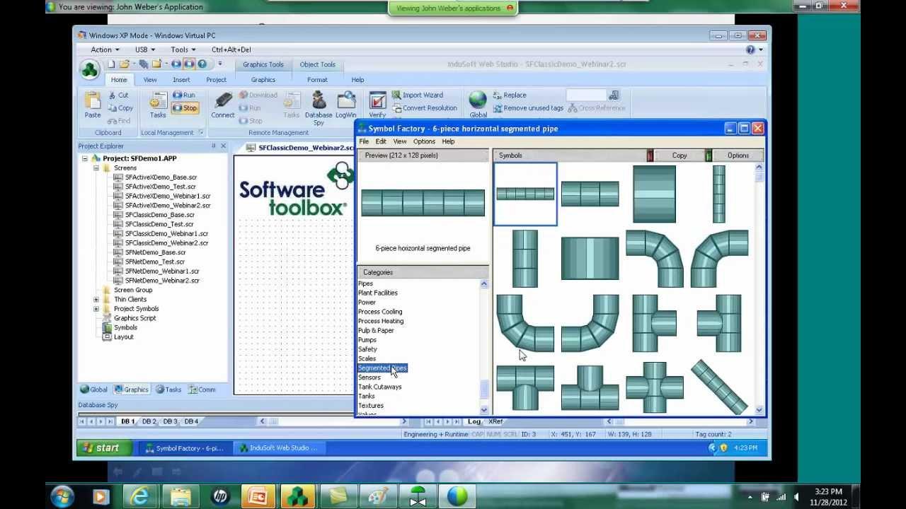 Symbol Factory and InduSoft Web Studio - YouTube