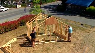 Treecycling builds a shelter frame using I Wood technology