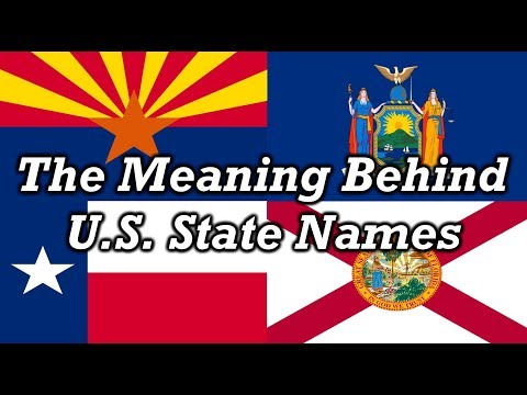 Origin Of US State Names