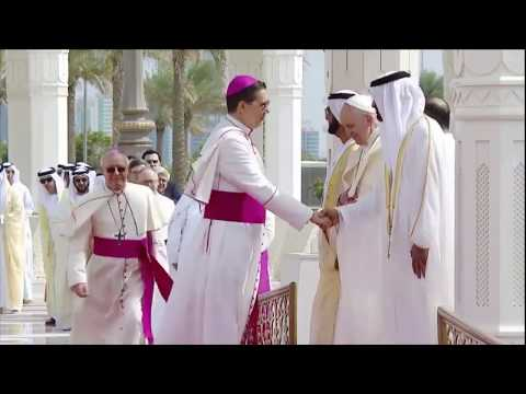 The official reception of Pope Francis at The Presidential Palace in Abu Dhabi