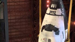 STS-135 - Mounting space shuttle Atlantis to the stack for the final time. Part Five