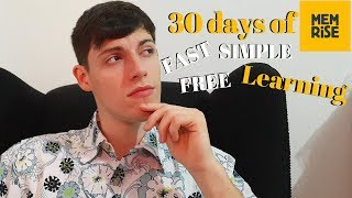 30 days of Memrise language app fast language learning free & simple