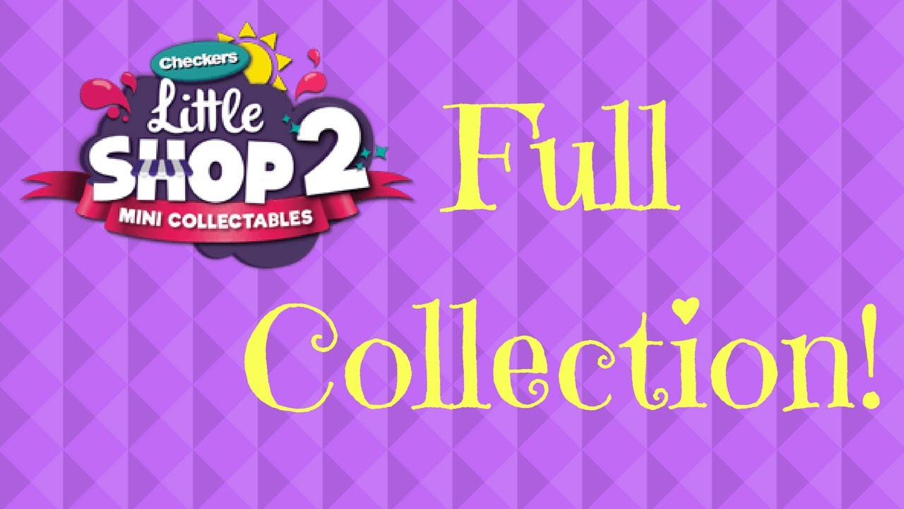 319bb7ff6c5 Complete Collection of Checkers Little Shop 2 Mini Collectables ...