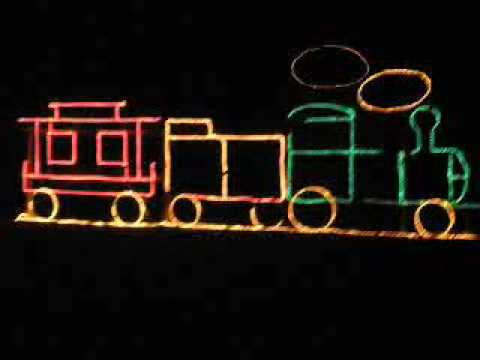 how to build a christmas light train