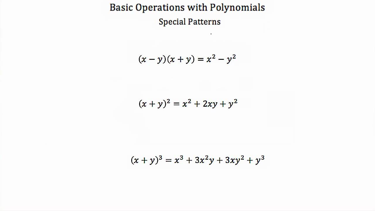 Worksheets Operations With Polynomials Worksheet basic operations with polynomials pt 2 youtube