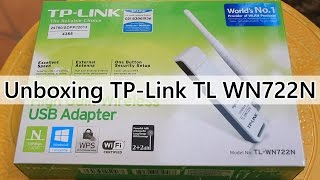 Unboxing TP Link WIFI USB Adapter TL WN722N