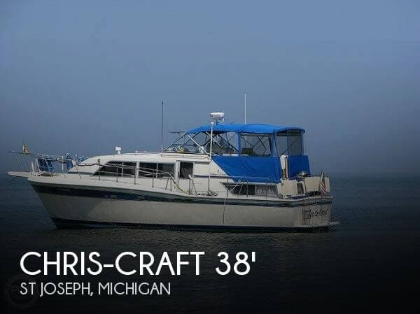 UNAVAILABLE] Used 1985 Chris-Craft 381 Catalina in St Joseph ... on electronic ignition diagram, chris craft exhaust, 360 ignition diagram, chris craft engine, chris craft timing gear diagram, chris craft parts, gas meter installation diagram, whatsup com diagram, 7.4 mercruiser engine diagram, 3 liter mercruiser engine diagram, chris craft brochure, chris craft constellation history, fisher lighting diagram, chris craft accessories,
