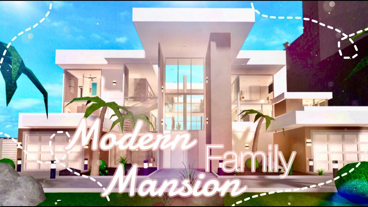 Bloxburg Modern Family Mansion Youtube Ooo guess ull have 2 watch to find out. bloxburg modern family mansion
