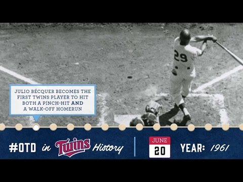 June 20, 1961 Becquer hits pinch-hit, walk-off HR