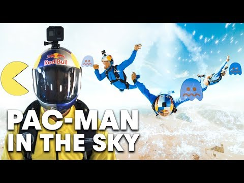 Real-Life PAC-MAN Goes Skydiving
