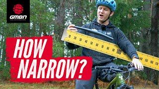 The Narrowest Bars In MTB?   Blake's Narrow Handlebar Challenge