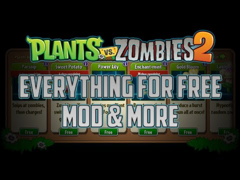 Plants Vs Zombies 2 - EVERYTHING FOR FREE [UPDATED VERSION IN THE DESCRIPTION]