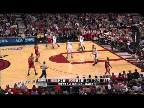 Yao Ming 24 Points vs Blazers Game 1 Playoffs! HD! 18.4.09