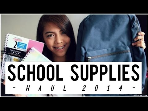 School Supplies Haul 2014 (National Bookstore, Muji, FullyBooked)