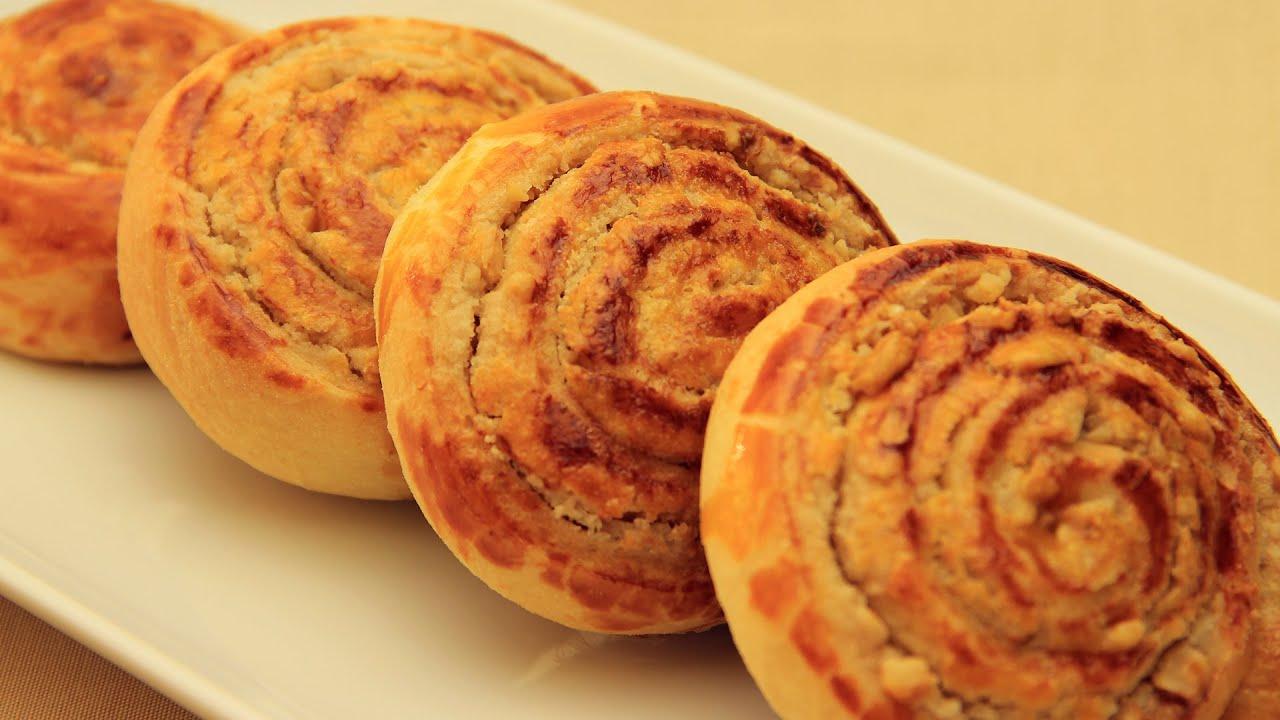Sweet tahini buns turkish walnut bread rolls youtube forumfinder Choice Image