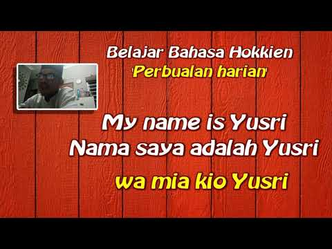 Learn hokkien language Malaysia way.