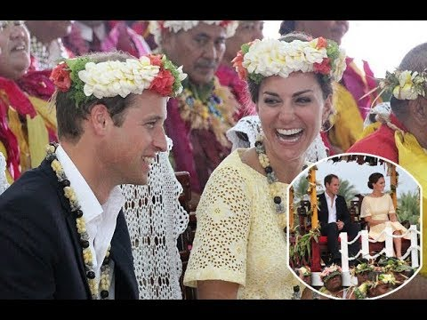 Kate Middleton, Duchess of Cambridge, receives her first royal GONG from Tuvalu