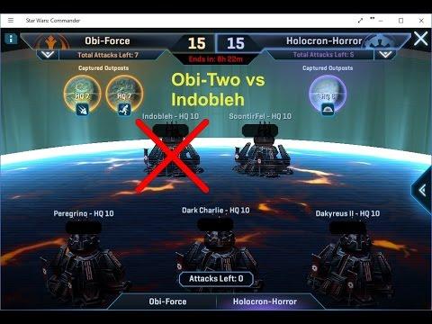 Obi-Two (level 9) vs Indobleh (level 10) - Squad Wars - Attack 1/3