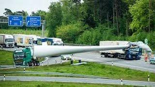 Windradflügel durchbohrt Führerhaus bei Auffahrunfall