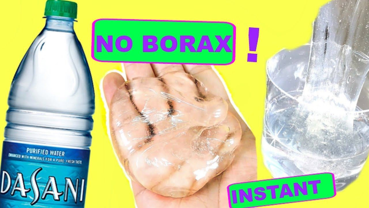 How to make clear slime with only glue and borax