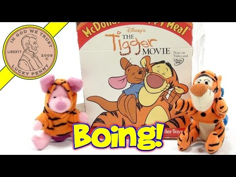 Disney's The Tigger Movie 2000 Set, McDonald's Retro Happy Meal Toy Series